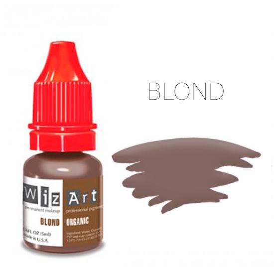 Пигмент WizArt Organic Blond 5 мл. для татуажа и перманентного макияжа