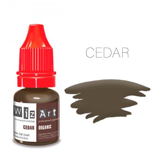 Пигмент WizArt Organic Cedar 5 мл. для татуажа и перманентного макияжа