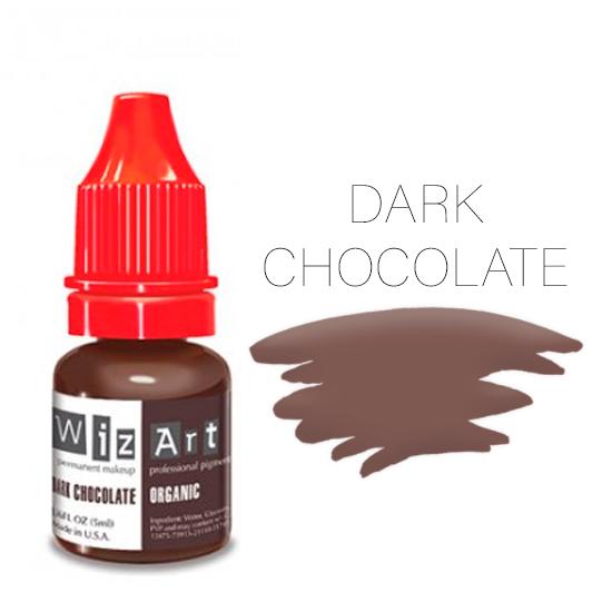 Пигмент WizArt Organic Dark Chocolate 10 мл. для татуажа и перманентного макияжа