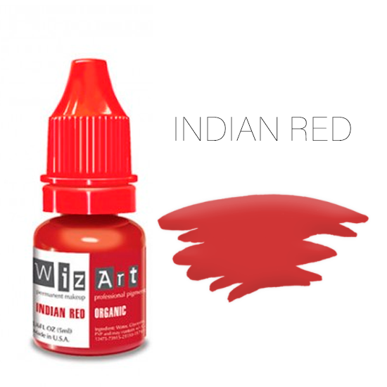 Пигмент WizArt Organic Indian Red 5 мл. для татуажа и перманентного макияжа