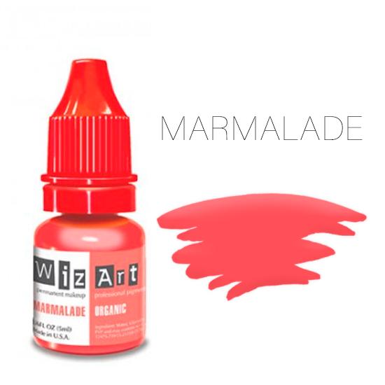 Пигмент WizArt Organic Marmalade 5 мл. для татуажа и перманентного макияжа