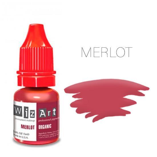 Пигмент WizArt Organic Merlot 10 мл. для татуажа и перманентного макияжа