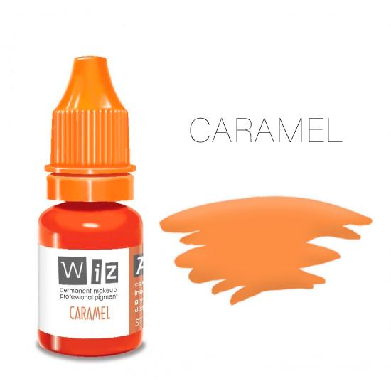 Пигмент WizArt Strong Caramel 5 мл. для татуажа и перманентного макияжа