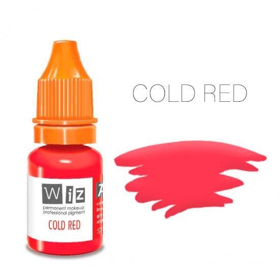 Пигмент WizArt Strong Cold Red 10 мл. для татуажа и перманентного макияжа