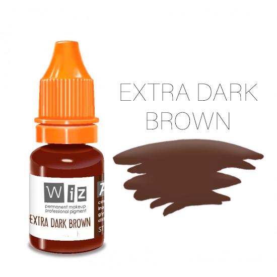Пигмент WizArt Strong Extra Dark Brown 10 мл. для татуажа и перманентного макияжа