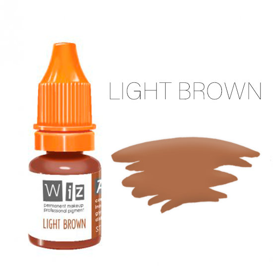 Пигмент WizArt Strong Light Brown 5 мл. для татуажа и перманентного макияжа