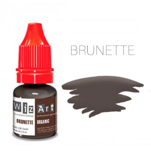 Пигмент WizArt Organic Brunette 10 мл. для татуажа и перманентного макияжа